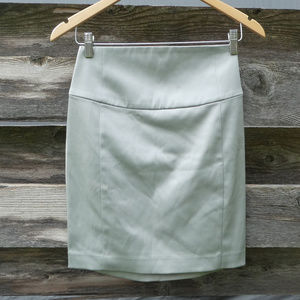 Express Silver High Waisted Lined Mini Skirt